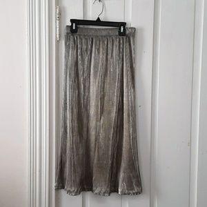 trimmings gold shimmery shiny skirt